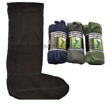 New Men's Wellington Boot Socks Fleece Welly Liners Size 6-11 100% Polyester