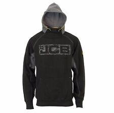 Mens JCB Horton Black Heavyweight Hooded Sweatshirt Hoody Hoodie Workwear Top Sz