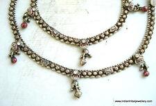 vintage antique ethnic tribal old silver anklet feet bracelet for girls