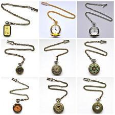 Gents Pocket Watch Vtg/Antique Style Fob Bronze/Silver/Gold Steampunk/Wedding
