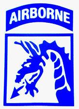 "XVIII AIRBORNE CORPS. U.S.ARMY VINYL Decal Sticker 4"" X 5""  BUY 2 GET 1 FREE  D1"