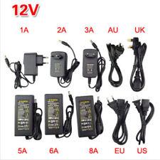 1 x AC100-240V To DC12V 1/2/3/5/6/8A Power Supply Adapter Transformer LED Strip