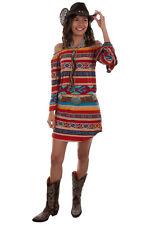 Scully Women's Serape Peasant Long Sleeve Dress HC519