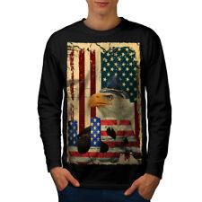 Major Bold Eagle Men Long Sleeve T-shirt NEW | Wellcoda