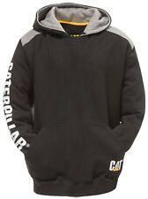 Caterpillar CAT Logo black panel hoodie hooded sweatshirt