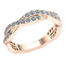 0.9ctw Round Diamond Ladies Interlinked Bridal Eternity With Sizing Bar 10k Gold