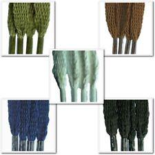 Tissage plat lacets 5mm-Couleurs Variés-Pour Chaussures, bottes, formateurs, plimsoles