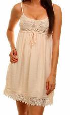 68e8d2d2fbc Pretty Blush Ivory Chocheted Lined Slip BI Empire Sundress Gypsy Mini Dress  New