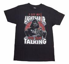 Star Wars Movie Darth Vader Let My Lightsaber Licensed Adult Graphic T Shirt