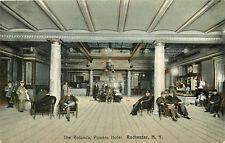 """Rochester Ny Powers Hotel """"The Rotunda"""" Lobby 1908 P/C"""