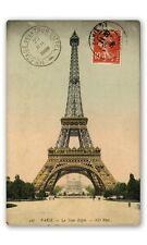 Eiffel Tower Vintage Postcard 1909 Car Vinyl Sticker - SELECT SIZE