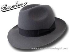 Borsalino Cappello Marengo Fedora ala 6,5 cm grigio medio