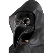 Women's Black Authentic Plague Doctor Mask Fancy Dress Halloween Masquerade Hen