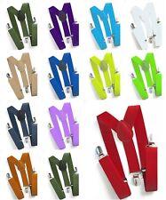 Kinderhosenträger Kinder Hosen Träger Stretch Y Form Style Clips Schmal Neon Neu