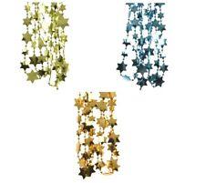 Sternengirlande Girlande Sterne Weihnachten Lametta Baumkette Perlenkette 2,70 m