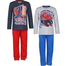 Pyjama Set Schlafanzug Jungen Marvel Spiderman Blau Rot Grau 98 104 116 128 #140