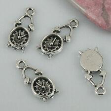 24pcs Tibetan silver color alarm clock design charms EF0508