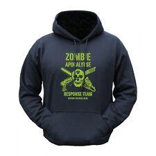 Mens Zombie Apocalypse Outdoor Hoodie Hooded Jumper Black