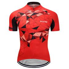 2018 Unique Mens Cycling Jersey Racing Tops Sportswear Short Sleeve Bike Shirts