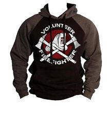 New Volunteer Fire Fighter Raglan Hoodie sweatshirt Rescue EMS firefighter hero