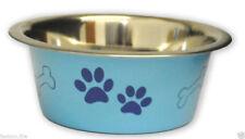 Stainless SteelPet Bowl Pink Blue Dog Puppy Dog Cat Kitten Water Food Bowl