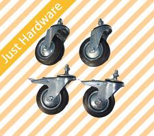 "4PC 75mm/100mm/125mm 3"" 4"" 5"" Swivel Caster Castor wheel brake thread Bolt nut"