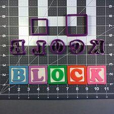 Alphabet Block Font Uppercase Cookie Cutter Full Set