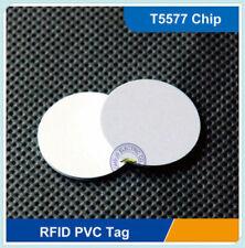 100 pcs Ф25mm 125Khz Rfid T5557/T5577 Proximity Coin Fobs Tags Adhesive Sticker
