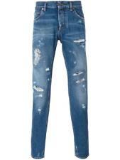 DOLCE&GABBANA 14 Gold Slim Fit Distressed Blue Jeans G6LBLD-G8S36 NEW NWT $695