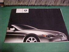 2004 BMW 6 SERIES CONVERTIBLE 645CI DEALER BROCHUREBOOK