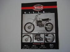 advertising Pubblicità 1977 MOTO VILLA CR 250