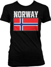 Bold Norway Flag - Norwegian Pride Country Nationality Juniors T-shirt