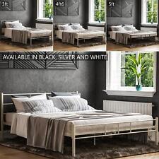Dorset Single Double King Bed Metal 3ft 4ft6 5ft Steel Frame Modern Bedroom Unit