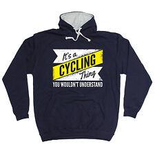 Su una cosa.. entiendo Sudadera Con Capucha Capucha Ciclismo cumpleaños regalo de engranajes Rider Biker
