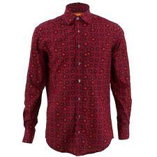 Men's Loud Shirt REGULAR FIT Floral Red Retro Psychedelic Fancy