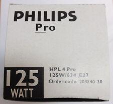 PHILIPS HPL 4 Pro 125W/634 E27 HPL 301 E27 Lampe vapeur mercure HQL HRL HSL