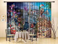 3D City Car 52 Blockout Photo Curtain Printing Drapes Fabric Window CA Carly