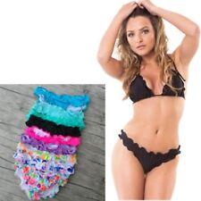 Sexy Bikini Underwear Women Swimwear Lace Briefs Bottom Biquini Swimming Trunk