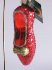 "Old World Christmas ""Ruby Slipper"" Glass Ornament"