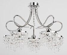 Cristalli DI LUSSO Lampadario 5 braccia Palazzo moderno luce corridoio sala da pranzo DIANA nuovi
