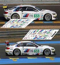 Decals BMW M3 GT2 Le Mans 2011 55 56  1:32 1:24 1:43 1:18 64 87 slot calcas