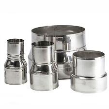 Stainless Steel Pipe Connector Adaptor, Chimney Flue Liner Reducer Ø 80-250mm