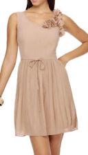 Darling Blush Nude Pink Beth Dress S UK 10 Beautiful Corsage Pleated Skirt