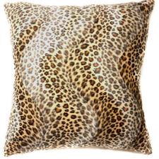 Ff07a Faux Fur Brown Leopard Skin Print Cushion Cover/Pillow Case*Custom Size