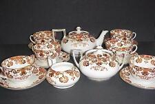 SAMUEL RADFORD IMARI ANTIQUE TEA SET TEAPOT CUPS & SAUCERS