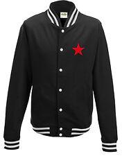 Red star campus sweatjacket black white