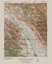 Topographical Map Print - Morgan Hill California Quad - USGS 1940 - 23 x 28.17