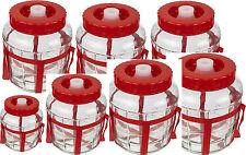 Universelles Glas mit Gärsystem Gärballon Gärbehälter Glasballon 8 Größen