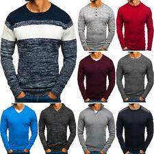 Suéter Liso Jersey Sweater Cuello Redondo Diario Men Hombre Mix BOLF 5E5 Casual