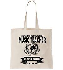 Profesor de música Personalizado Bolso Shopper gracias modificar Escuela De Regalo De Cumpleaños